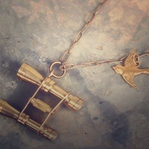 Binocular Bird Necklace